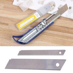10 Pcs Boîte Ouvre-lettres Cutter casser Lames De Rechange 9/18mm Lames de Couteau universel