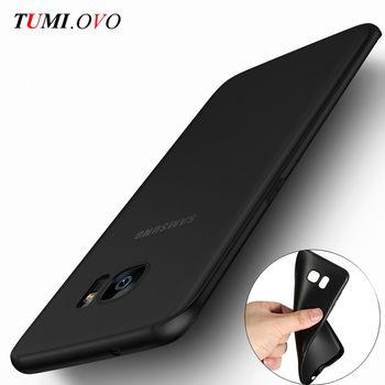 Ultra Mince Noir Gommage Mat Souple En Silicone Tpu pour Samsung Galaxy J1 J3 J5 J7 A3 A5 A7 2015 2016 2017 S5 S6 S7 Bord S8 Plus