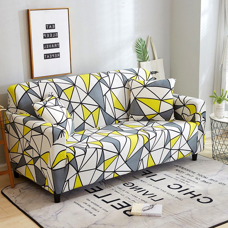 Stretch Sofa Covers Furniture Protector Polyester Loveseat Couch Cover l 1/2/3/4-seater Arm Chair Cover for Living Room