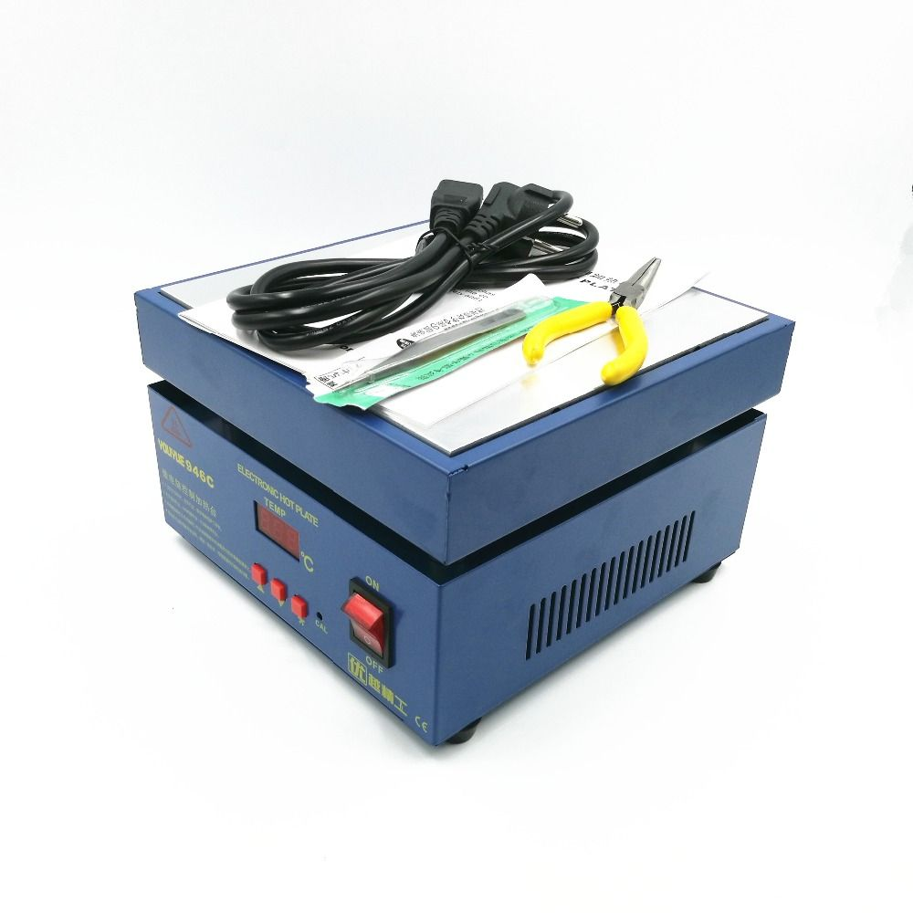110/220 v 800 w 946C Électronique Plaque Chaude Préchauffer Préchauffage Station 200x200mm Pour BGA PCB SMD Led Chauffage lampe à dessouder