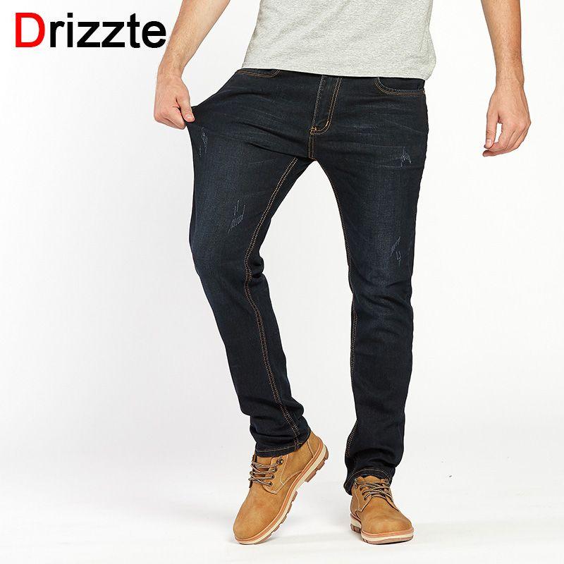 Drizzte Для мужчин Джинсы для женщин модные эластичные джинсы нуля Брюки для девочек Мотобрюки плюс Размеры 28 до Размер 35 36 38 40 42 44