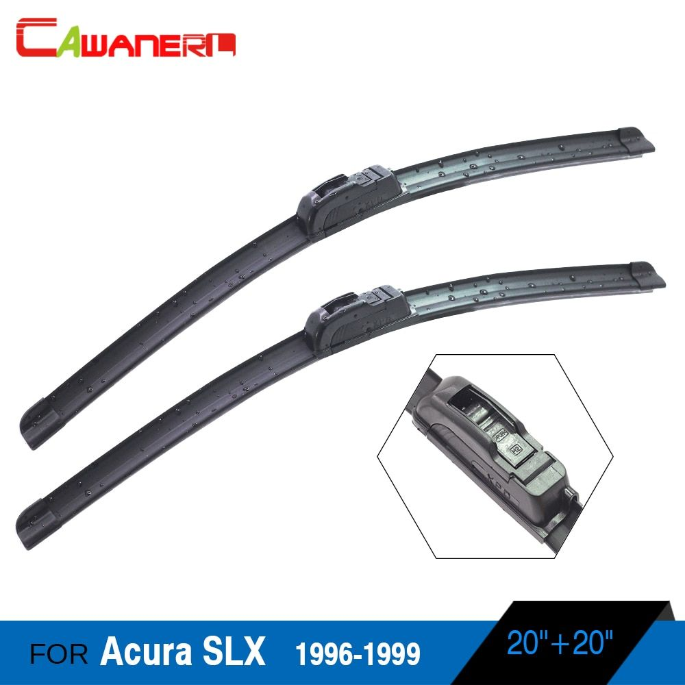 Cawanerl Car Soft Rubber Wiper Blade 1 Pair Auto Front Windscreen Windshield Wiper Suit For Acura SLX 1996-1999