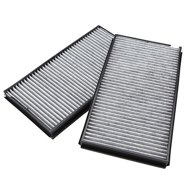 2pcs Cabin Air Pollen Filter Microfilter For BMW 5 Series E60 E61 M5 525i 530i 535i