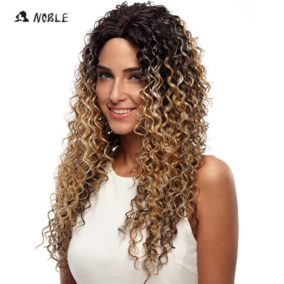 Благородный Искусственные парики для черный Для женщин глубокая волна Синтетические волосы на кружеве Искусственные парики Синтетические...