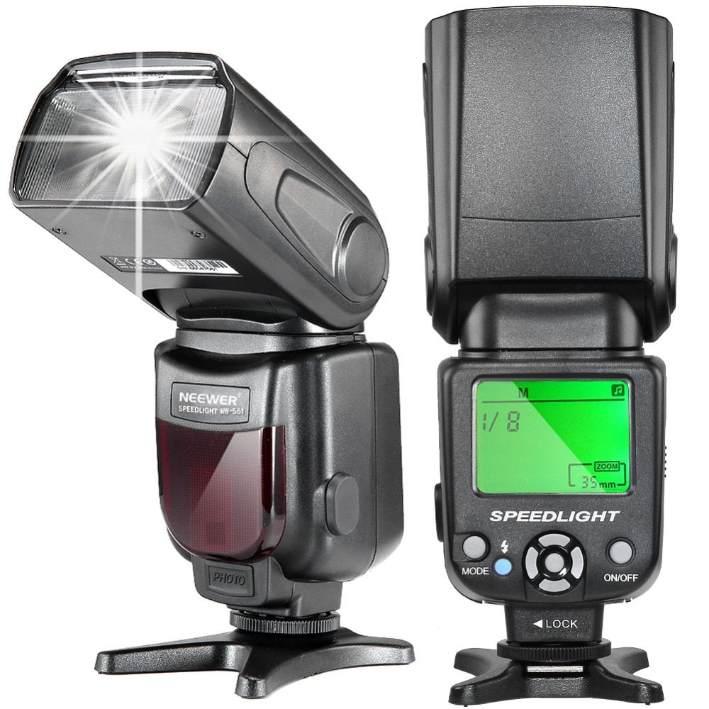 Neewer NW-561 LCD Display Speedlite Flash for Canon Nikon D7200 D7100 D7000 and All Other DSLR Cameras with Standard Hot Shoe
