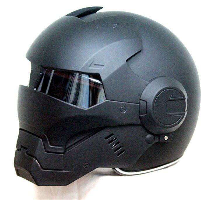 Masei 610 Top ABS Moto biker Helm ktm Iron Man persönlichkeit special fashion halb offen gesicht motocross helm matt schwarz