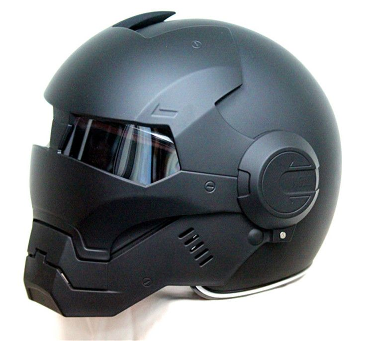 Masei 610 Top ABS Moto biker Helmet ktm Iron Man personality special fashion half open <font><b>face</b></font> motocross helmet matt black