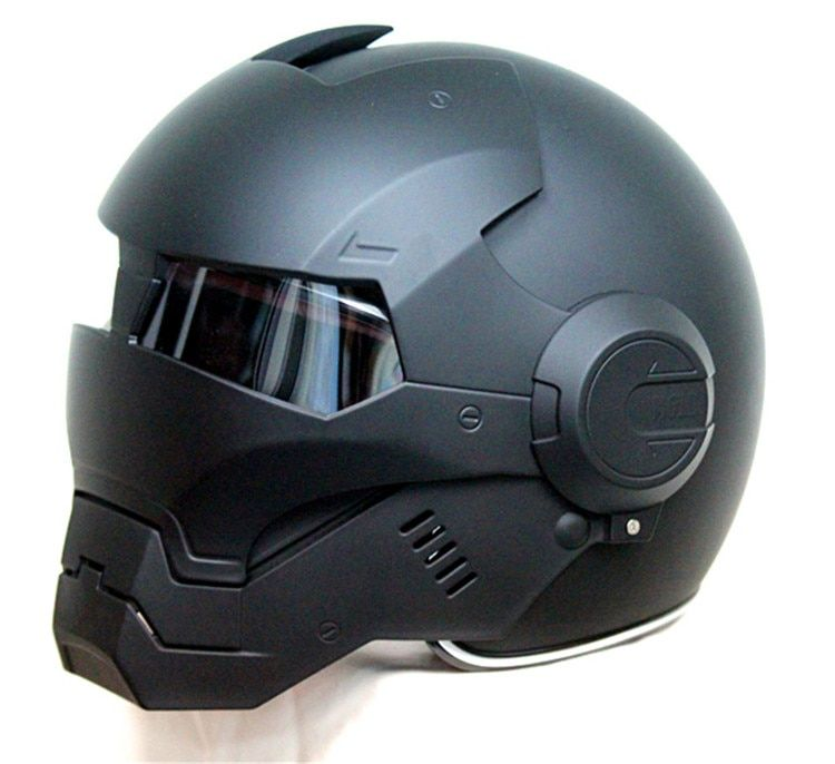 Masei 610 Top ABS Moto biker Helmet ktm Iron Man personality special fashion half open face motocross helmet matt black