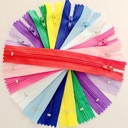 100 pcs 15/20/25/30/40 cm 3 # Coloré Fermé Fin Nylon Coil Fermetures À Glissière sur mesure Couture Artisanat