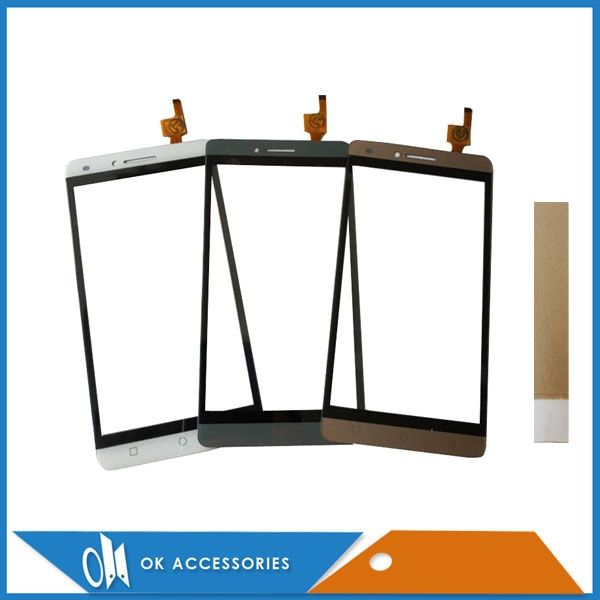For Ark Benefit S502 Sensor Touch Screen Panel Replacement Front Glass Grey White Gold Color With Tape 1PC/Lot