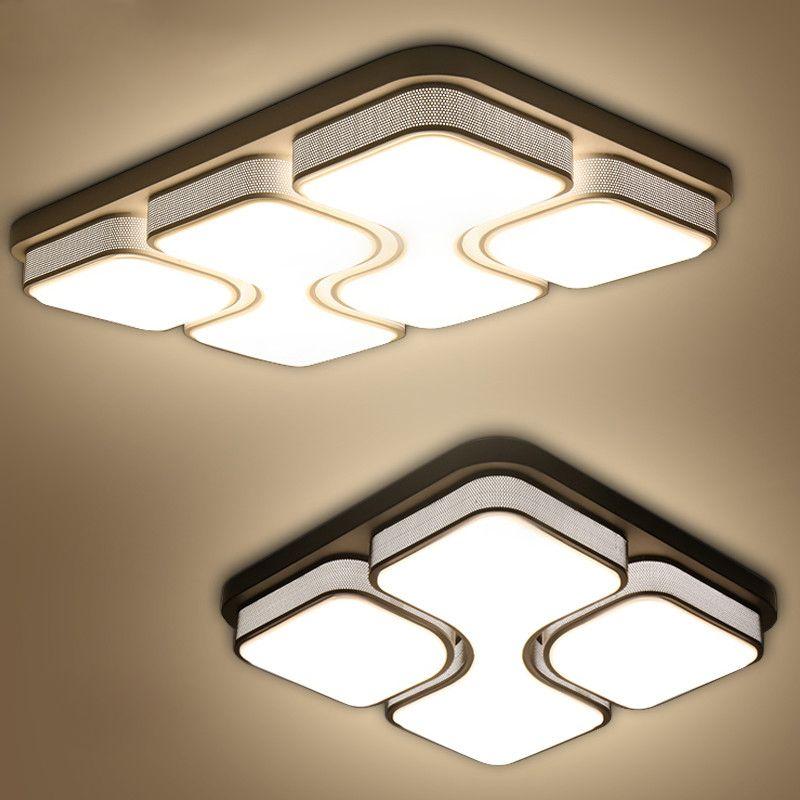Modern led chandeliers for living room bedroom room AC85-265V square white/black Indoor Ceiling chandelier Lamp Fixtures