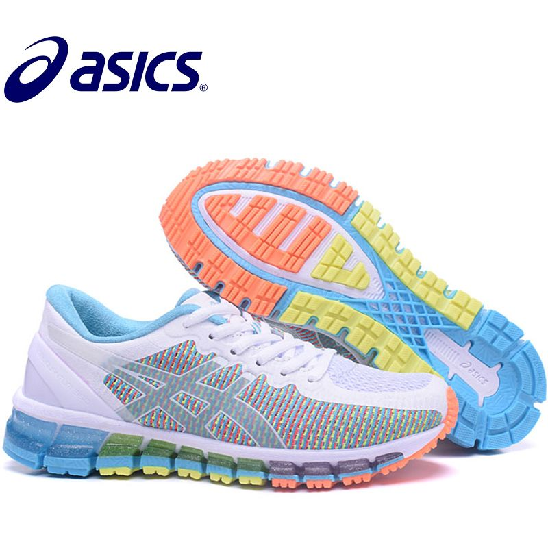 Asics Gel-Quantum 360 Official Woman's Sneakers Athletic Shoes Breathable Stable Running Shoes Outdoor Tennis Shoes Hongniu