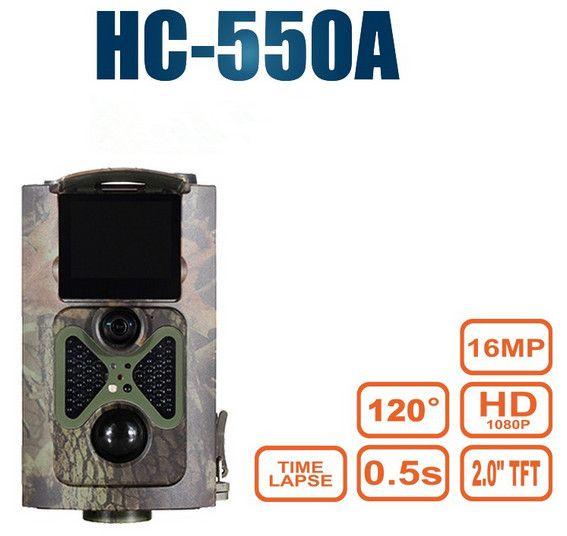 Suntekcam Scouting Hunting Camera HC550A HD 1080P 16MP 120 Degrees Angle PIR Sensor Trap Wildlife Game Trail Cameras photo traps