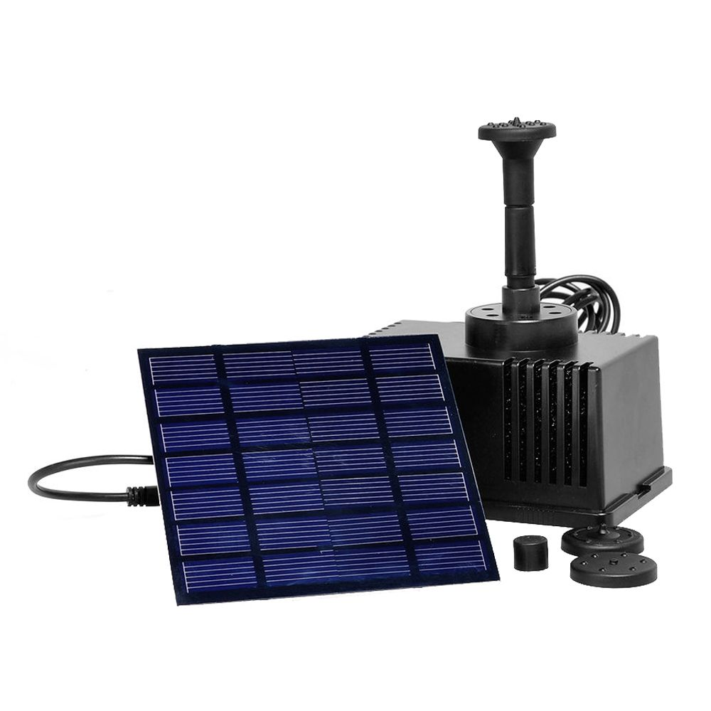 Solar Panel Powered Fountain Garden Pool Pond Submersible Water Pump 3m