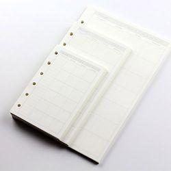 A6 A7 MUJI Style Couverture Du Livre De PVC et De Bourrage Spirale Papier Daily Mémos Lâche Feuille Intérieure Portable pour Bullet Journal