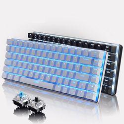 Ajazz AK33 Geek Backligt Mekanik Keyboard Dengan Backlit LED Cahaya Hitam Biru Beralih Gaming Keyboard untuk PC Tablet Desktop