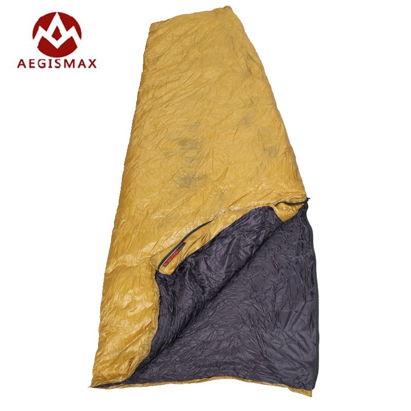 Aegismax Weiße Gans Daunenschlafsack Winter Fan Form Mit Sack Ultraleicht Verlängert Outdoor Camping Wandern FP800 200x82 cm