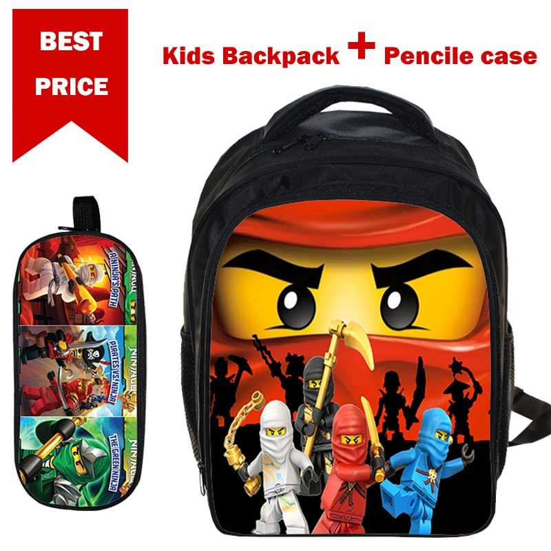Nouveau Lego sacs à dos cadeaux pour garçons filles enfants dessin animé film Lego Ninjago modèle cartable avec étui Pencile Mochila Para Ninos