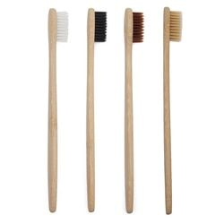 1 PC Adult Environmentally Wood Toothbrush Novelty Bamboo Toothbrush Capitellum Bamboo Fibre Wooden Handle