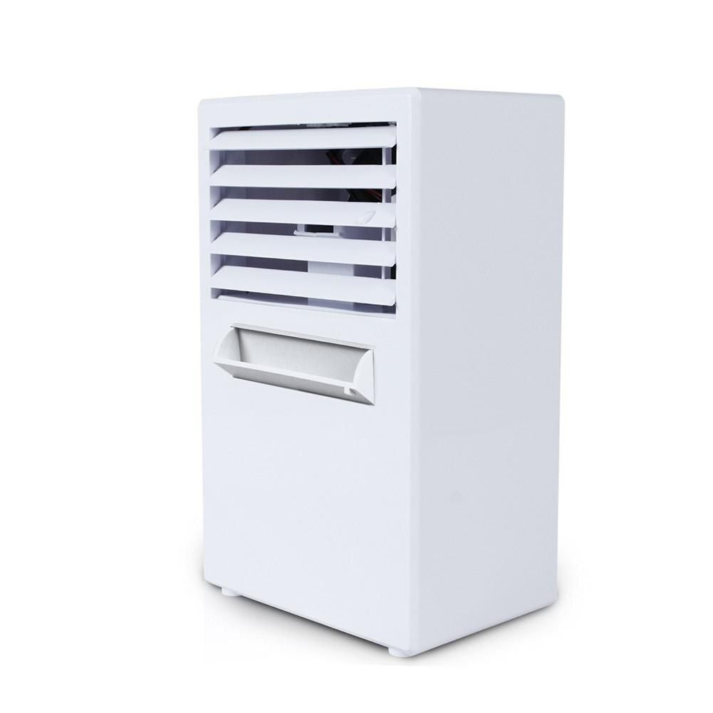 Adoolla EU/US Plug Desktop Mini Air Conditioner Fan Humidifier Moisturizing Device with Automatic Power off Function