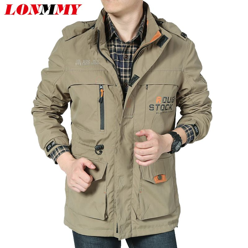 LONMMY 2018 Waterproof jacket men Jaqueta masculina Brand clothing Army windbreaker Military jackets men windproof coat male
