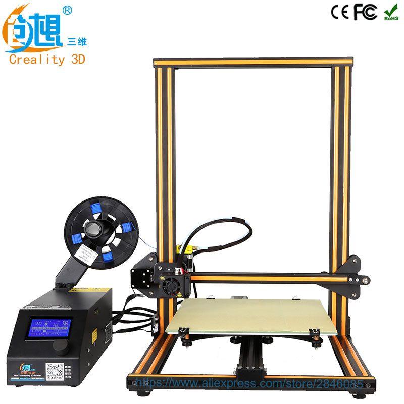 Creality 3D Offizielle Creality CR-10 3D Drucker Druck Größe 300*300*400mm Semi DIY 3d-drucker Kit mit Aluminium Beheizte bett