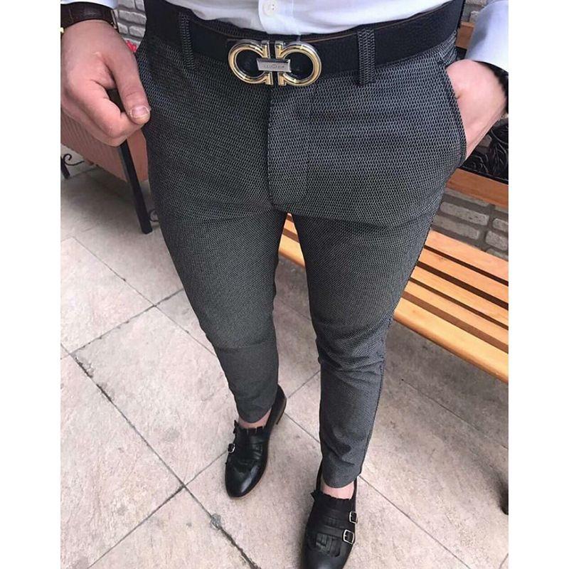 Envmenst 2017 Formal de Los Hombres de Color Sólido Pantalones de Traje de Moda Casual Slim Fit Blazer Negocios Rectos Pantalones de Vestir