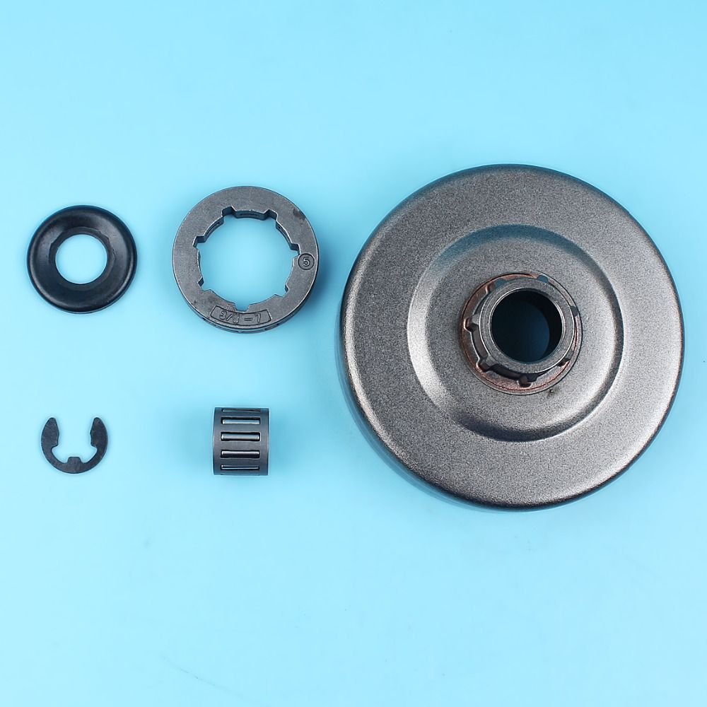 3/87T Clutch Drum Rim Sprocket Needle Bearing Washer for Husqvarna 365 372 362 371 372XP Chainsaws w/ Clip Replace Spare Part