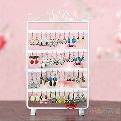 Hot 48 Holes Display Rack Metal Stand Holder Closet Jewelry Earrings Organizers Showcase Packaging & Display Wholesale 7EUB