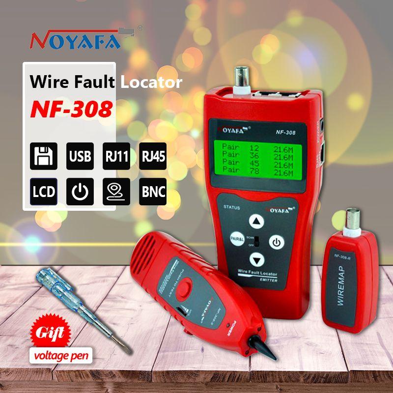 La surveillance du réseau câble testeur LCD NF-308 Fil Localisateur LAN Réseau Coacial BNC USB RJ45 RJ11 rouge couleur