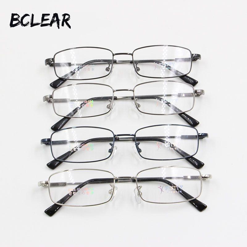 BCLEAR Relax mémoire titane cadre optique hommes populaire classique petit visage pleine jante Prescription lunettes pas cher montures de lunettes