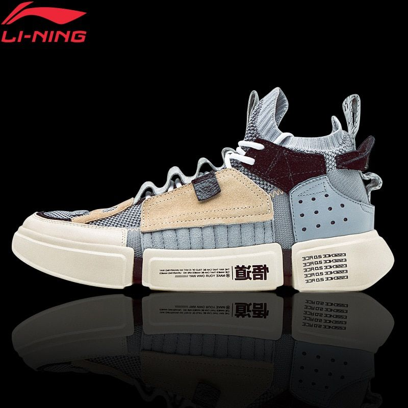 Li-Ning Men ESSENCE 2 ACE NYFW Leisure Culture Shoes Sock-Like Mono Yarn LiNing Breathable Sport Shoes Sneakers AGWN041 XYL159