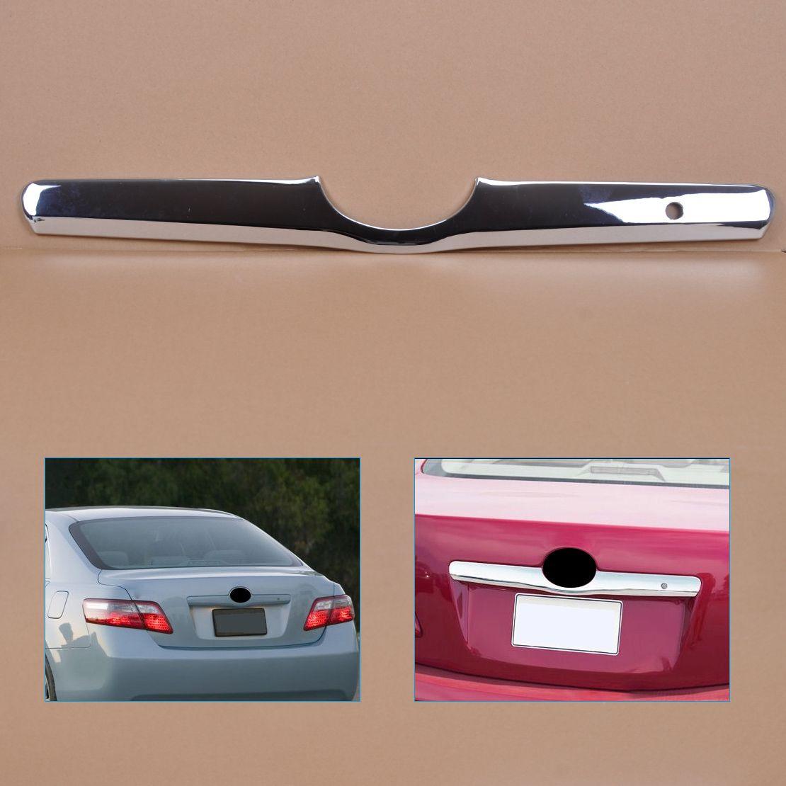 DWCX Car Chrome Decorative Rear Door Tailgate Trunk Hatch Trim Bezel Cover Fit for Toyota Camry 2006 2007 2008 2009 2010 2011