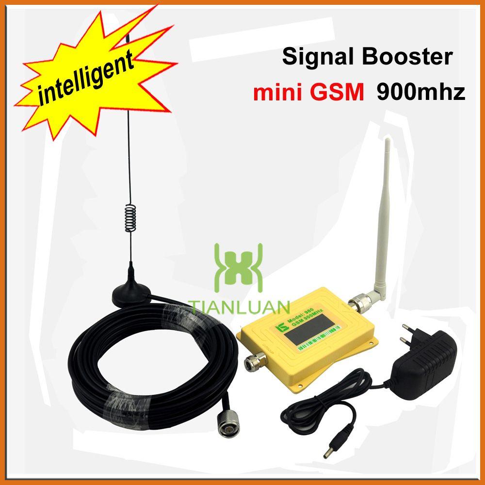 Mini Intelligent GSM980 Cellulaire Téléphone Signal Booster 2G GSM 900 mhz Répéteur de Signal GSM Booster avec Omni Antenne/Sucker Antenne