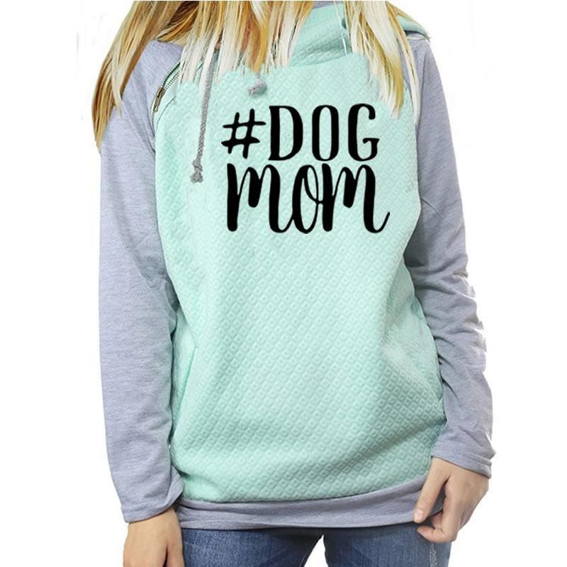 Dog Mom 2018 New Fashion Hoodies Women Kawaii Sweatshirt Femmes Printing Pattern Thick <font><b>Female</b></font> Cropped And Sweatshirts