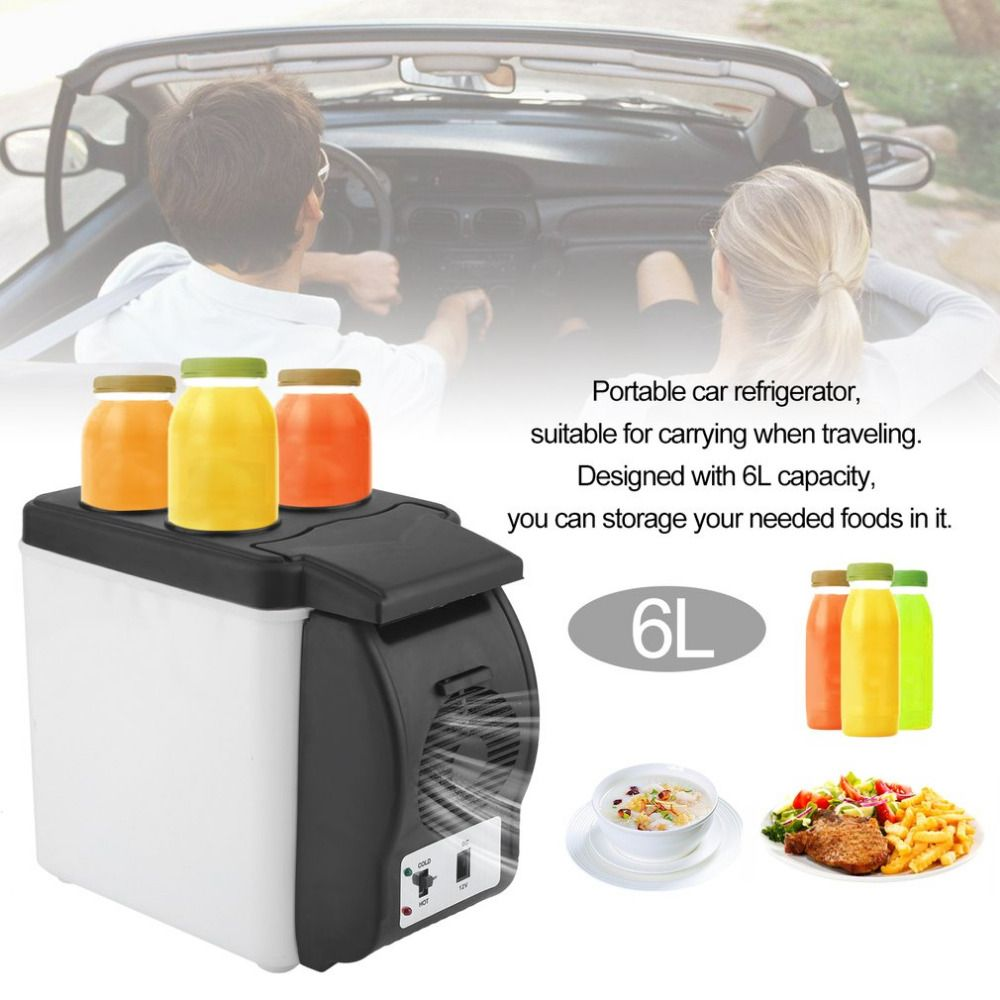 Universal Portable 6L Capacity Car Truck Travel Household Refrigerator Small Multi-Function Fridge Warmer Cooler Freezer