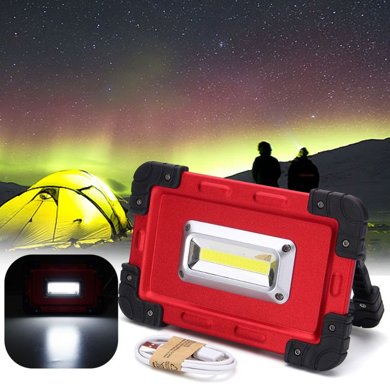 30W USB COB 32 LED Spotlight Portable Rechargeable LED Flood Light Work Camping Tent Outdoor Lamp DC3.7V