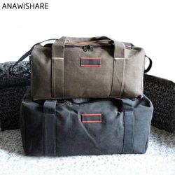 ANAWISHARE Men Travel Bags Large Capacity Women Luggage Travel Duffle Bags Canvas Big Travel Handbag Folding Trip Bag Waterproof