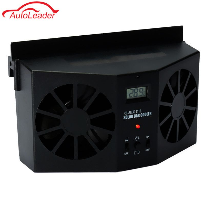 Solar Powered Car Window Fan Auto Ventilator Portable Air Vent Vehicle Ventilation System Radiator Car Solar Fan