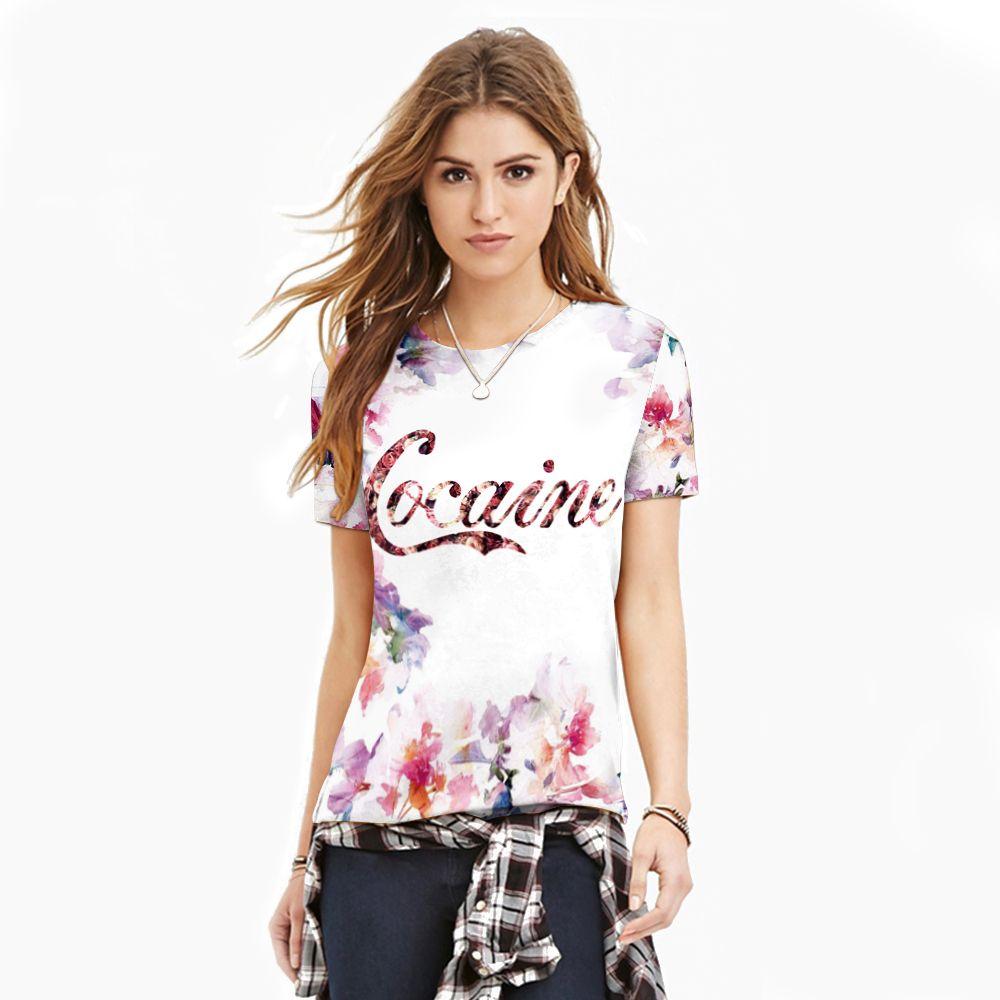 Новое поступление белый цветочный Для женщин Спорт T Рубашки для мальчиков короткий рукав тянуть за лето Бодибилдинг Баскетбол Рубашки для ...