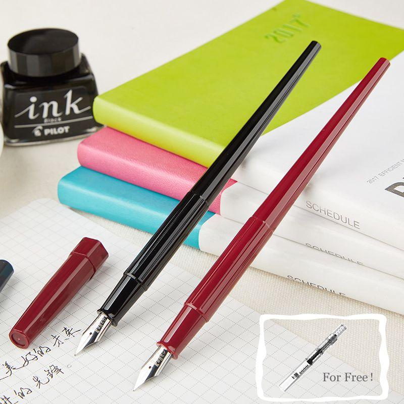 Élégant Long pilote bureau stylo plume étudiant EF Nib 0.38mm plume moyenne stylos à encre pour l'écriture calligraphie joli stylo papeterie DPP70
