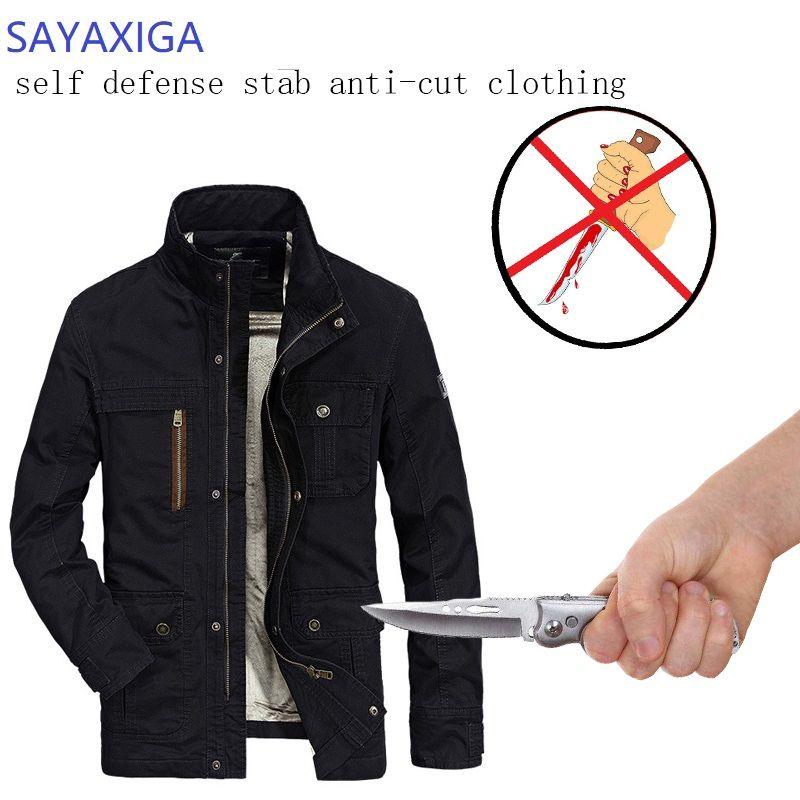 Selbstverteidigung Taktische Jacken Anti Cut Anti-Messer Cut Beständig Männer Jacke Anti Stab Sicherer Cutfree Sicherheit Weichen Stab kleidung