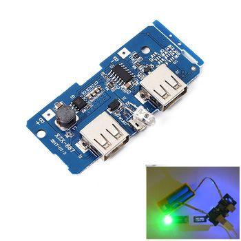 5 В 2A Запасные Аккумуляторы для телефонов Зарядное устройство модуль зарядки плате Step Up Повышение Питание модуль 2A Dual USB Выход 1A Вход