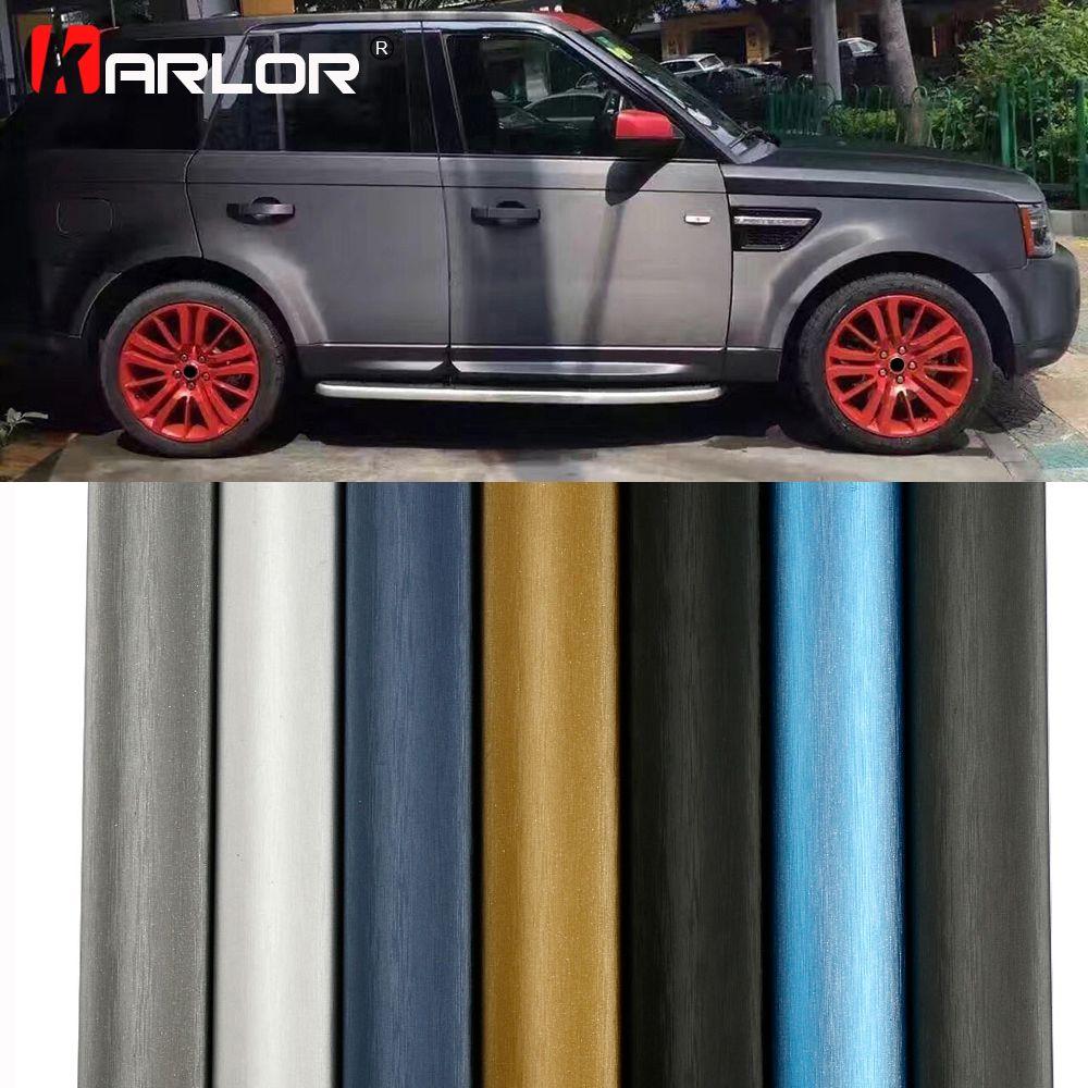 60*500cm Matte Drawing Vinyl Film Car Wrapping Foil Decorative Matt Chrome Brushed Automobiles Sticker Car-Styling Accessories