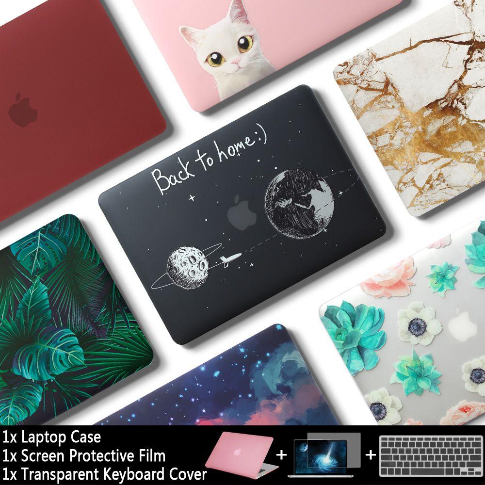 Nouvelle Mallette Pour Ordinateur Portable Pour Apple MacBook Air Pro Retina 11 12 13 15 pour mac book Pro 13.3 15.4 pouces avec Tactile Bar + protection pour clavier