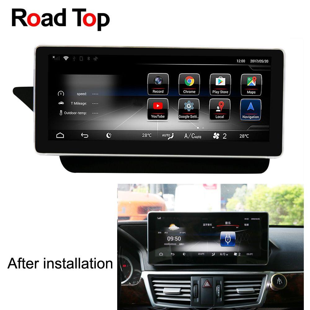 10,25 Android 7.1 Octa 8-Core CPU 2 + 32g Auto Radio GPS Navigation Bluetooth WiFi Kopf Einheit bildschirm für Mercedes Benz E W212 S212