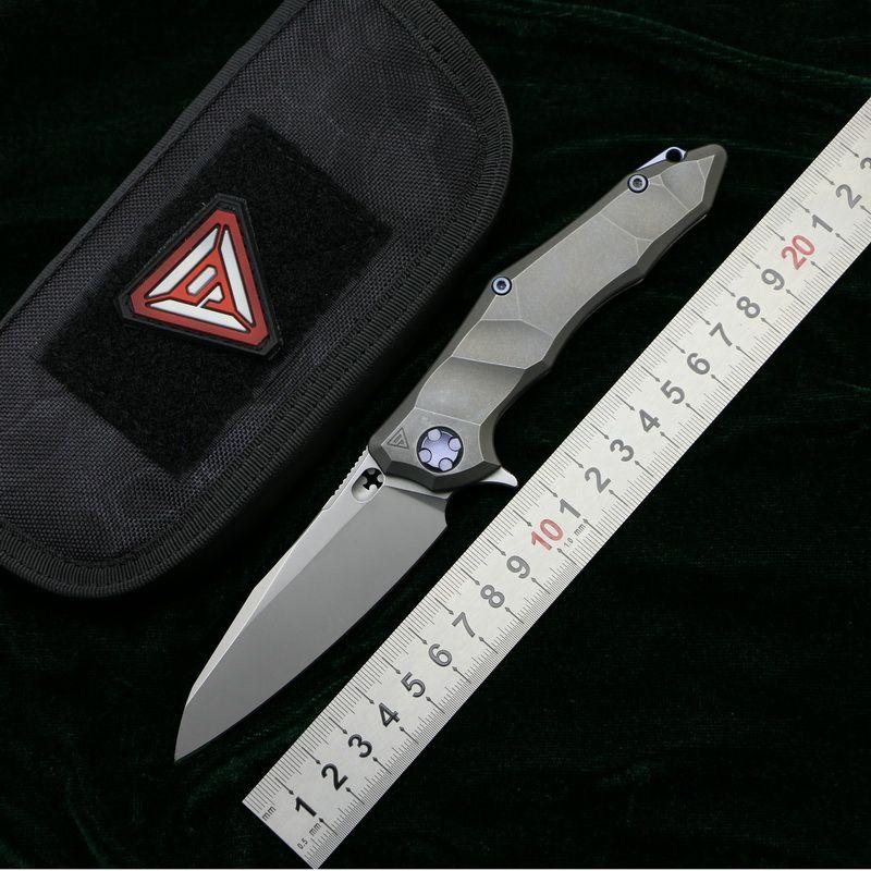 LOVOCOO District 9 Original Paladin Flipper Ball bearing folding knife M390 blade Titanium camping hunt Survival knives EDC tool