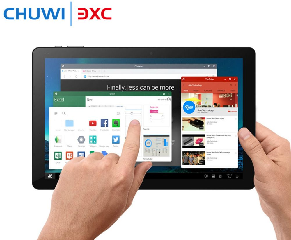 Original 10.8 Inch CHUWI Hi10 Plus Tablet PC Windows 10 Android 5.1 Intel Cherry Trail Z8350 Dual OS Quad Core 4GB 64GB HDMI