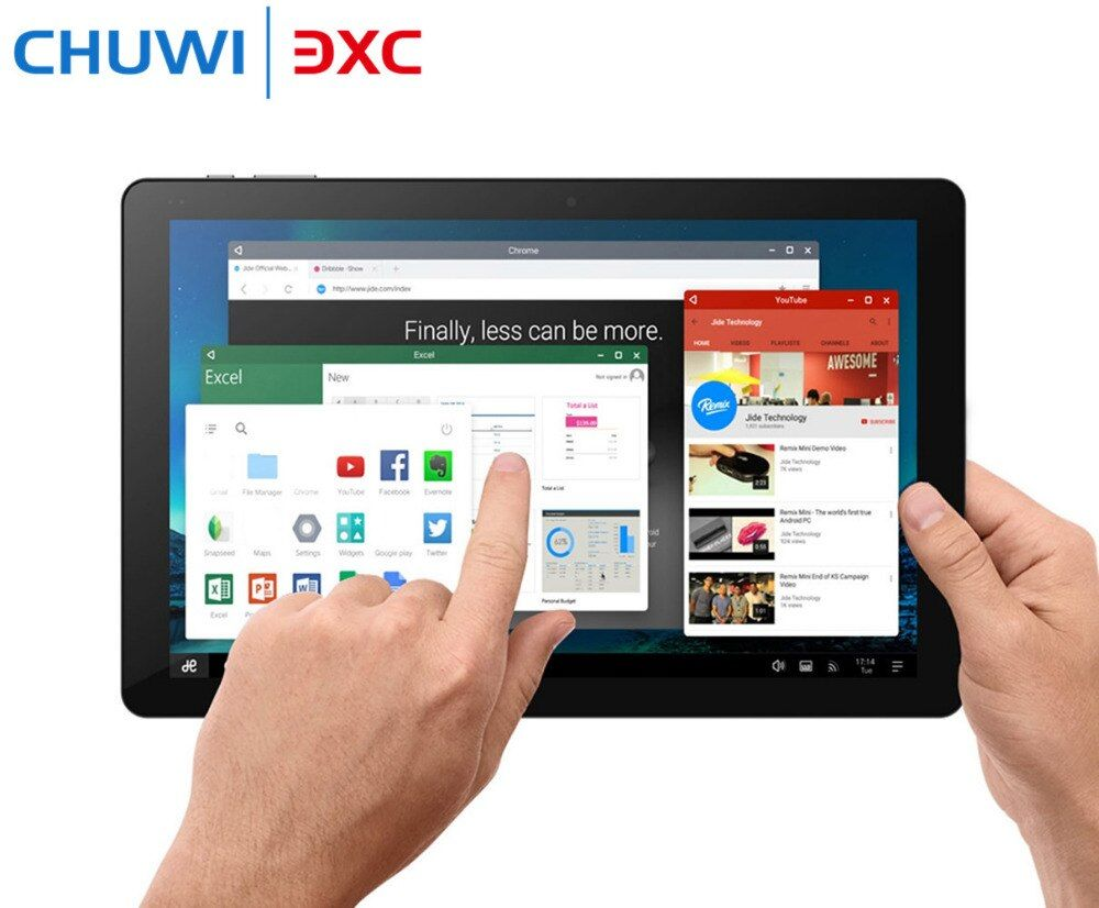 Original 10,8 Zoll CHUWI Hi10 Plus Tablet PC Windows 10 Android 5,1 Intel Kirsche Trail Z8350 Dual OS Quad Core 4 GB 64 GB HDMI
