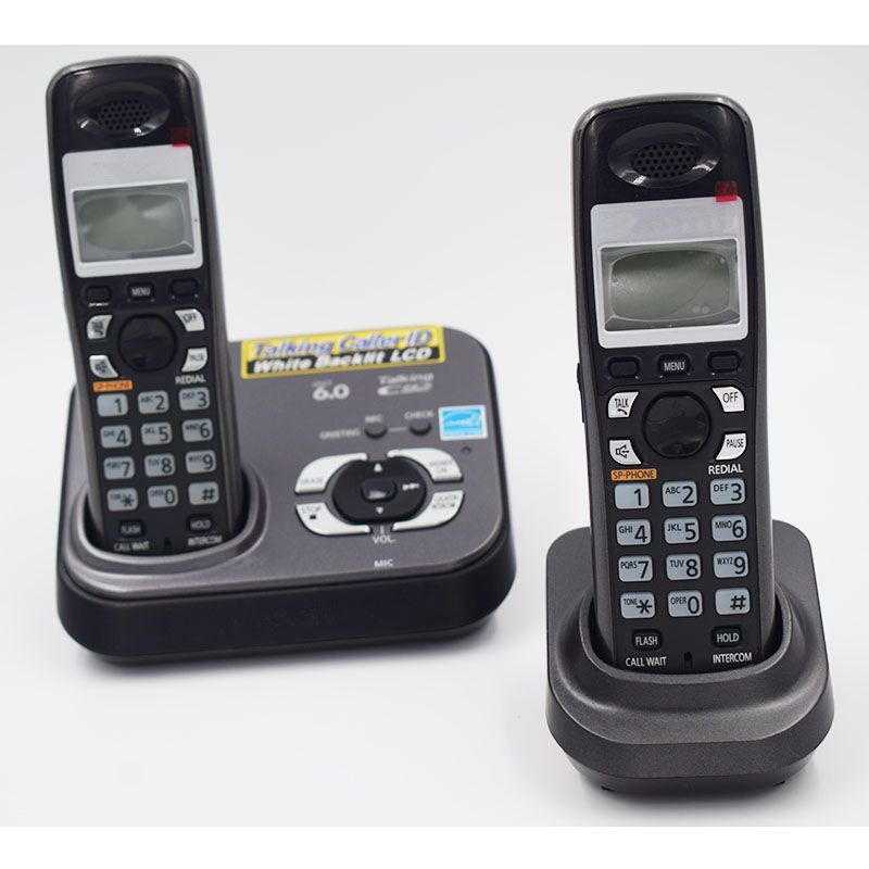 2 PCS Digital Cordless Phone KX-TG9331T Home Wireless Base Station Cordless Fixed Telephone For Office Home White